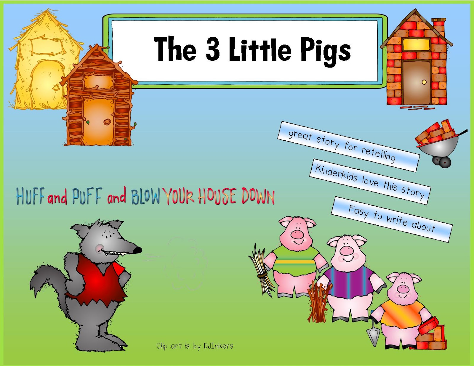 Kindergarten Crayons Retelling With The 3 Little Pigs