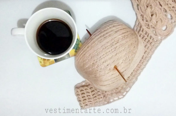 Pausa Café Coffe break crochê craft blog