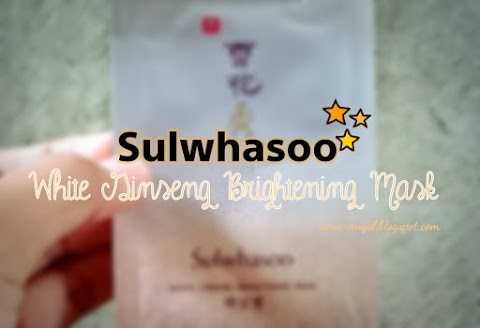 Review Sulwhasoo White Ginseng Brightening Mask