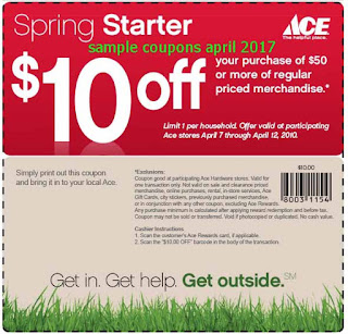 Ace Hardware coupons april 2017