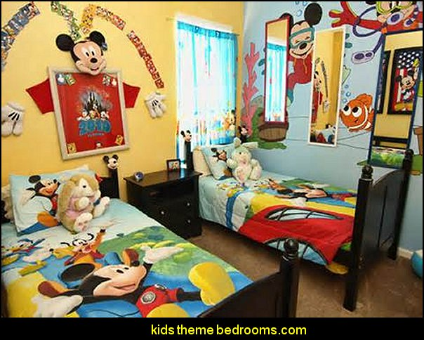 Mickey Mouse Theme Bedrooms Decorating Ideas Mikey Mouse Kids Theme Bedrooms