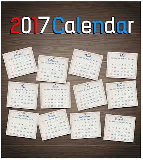 2017カレンダー無料テンプレート9