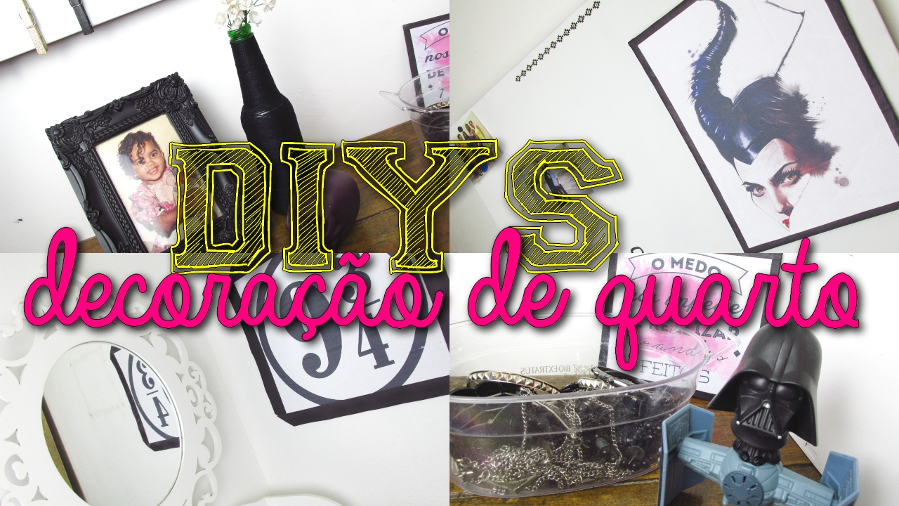 DIYs para decoração de quarto, DIYS room decor
