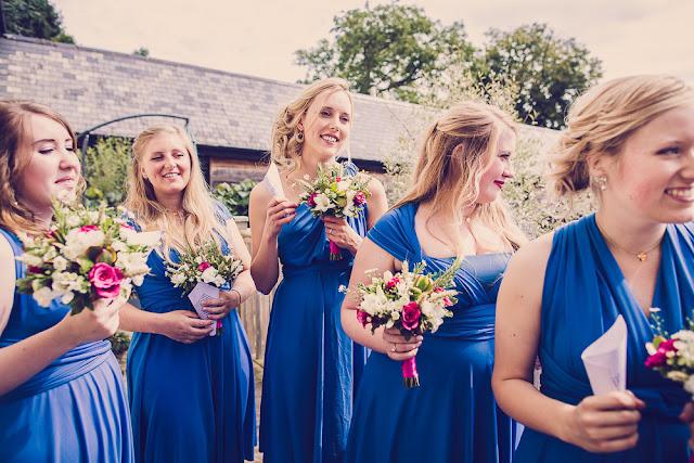 The corn barn Cullumpton, Devon wedding, Bridesmaids
