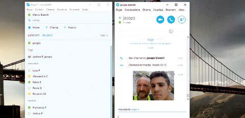 Come ottenere visualizzazione doppia in skype