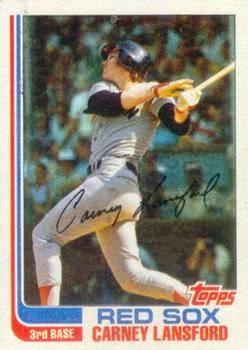 1982 Topps Blog Card 91 Carney Lansford