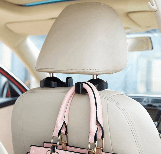 36 Genius Yet Inexpensive Products That Can Save Lives - These Car Hooks Keep Your Bag Within Easy Reach