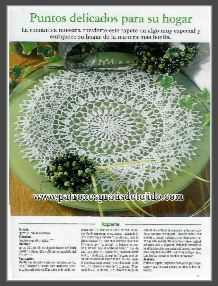 carpeta tapete centro de mesa redondo crochet