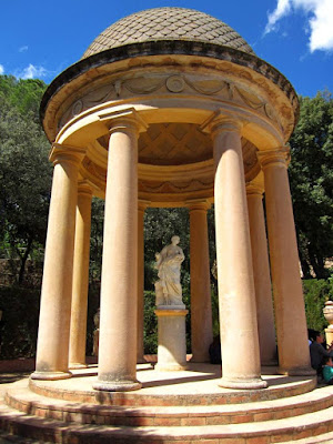 Templete de Ariadna en el Parc del Laberint en Barcelona