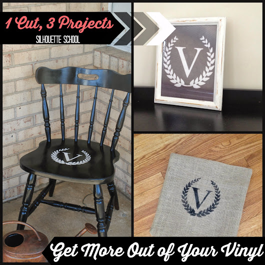Stop Wasting Silhouette Vinyl: Get 3 Projects from 1 Cut {And a Giveaway}