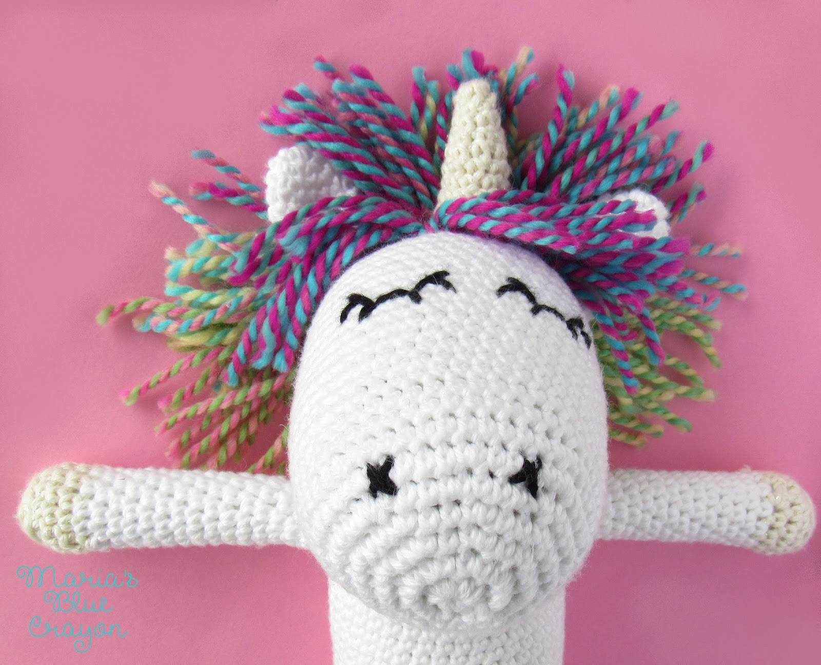 Eloise the Unicorn - Amigurumi Crochet Pattern - Maria\'s Blue Crayon