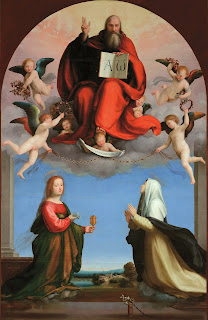 Bartolommeo's God the Father with SS Catherine of Siena and Mary Magdalene can be seen at Villa Guinigi in Lucca