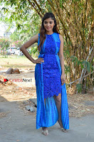 Tamil Actress Sanchita Shetty Latest Pos in Blue Dress at Yenda Thalaiyila Yenna Vekkala Audio Launch  0023.jpg