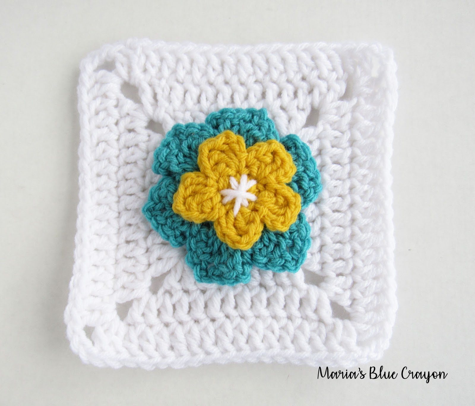 Flower Granny Square Free Applique And Granny Square Crochet
