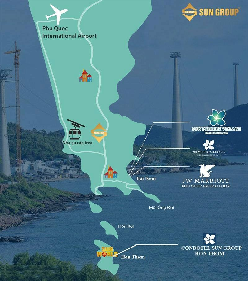 Bản đồ du lịch và vị trí đảo Hòn Thơm Phú Quốc