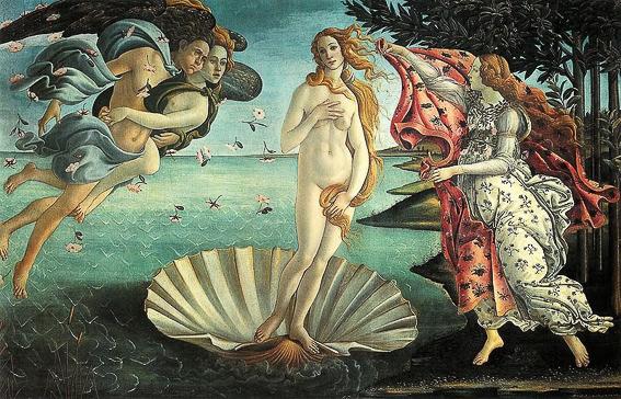 El nacimiento de Venus. Galeria uffizi