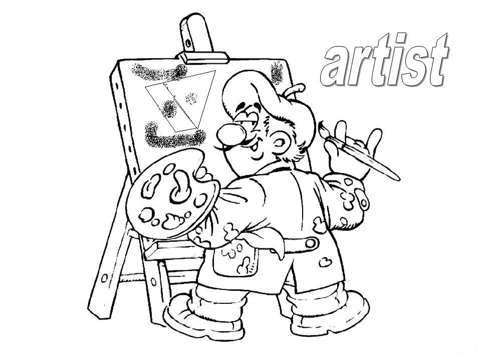 Dibujo De Bolígrafo Infantil Y Libreta Para Colorear: Dibujos Para Colorear Pintores