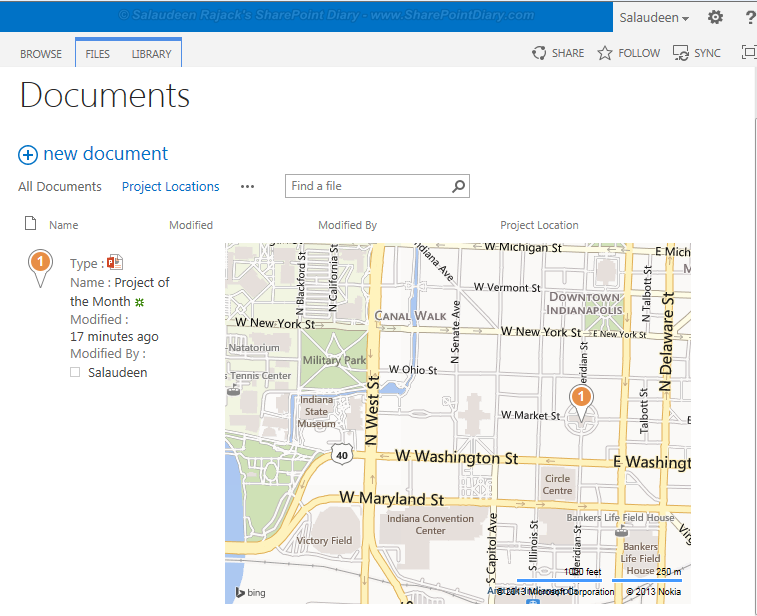 How to create Bing Maps Column in SharePoint 2016