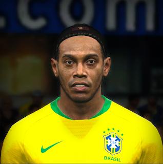 PES 2017 Faces Ronaldinho by Jefferson_SF