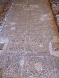 Mosaico con decoración geométrica