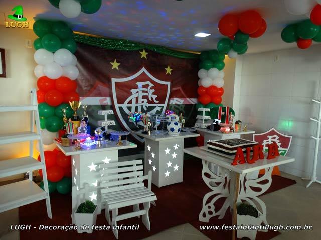 Decoração de aniversário tema Fluminense