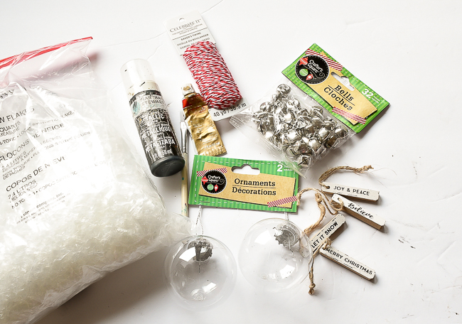 DIY Dollar Tree ornament supplies