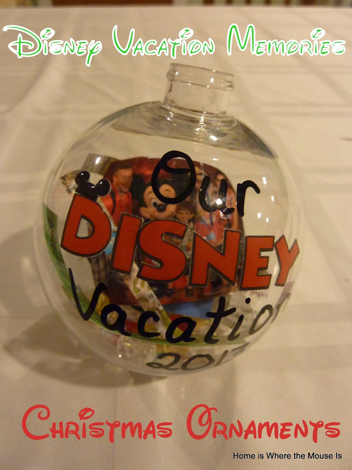 Disney Vacation Memories Christmas Ornaments | Adventures in ...