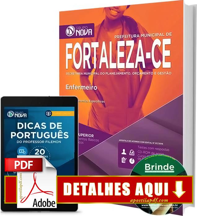 Apostila Prefeitura de Fortaleza 2016 Enfermeiro Impressa