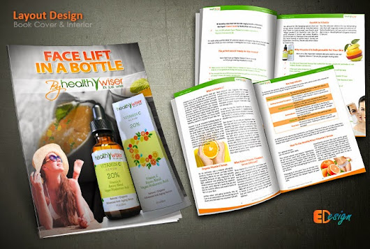 Creative guide booklet and book cover designed for a healthy product