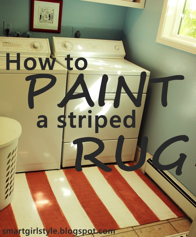 Smartgirlstyle: How To Paint A Striped Rug