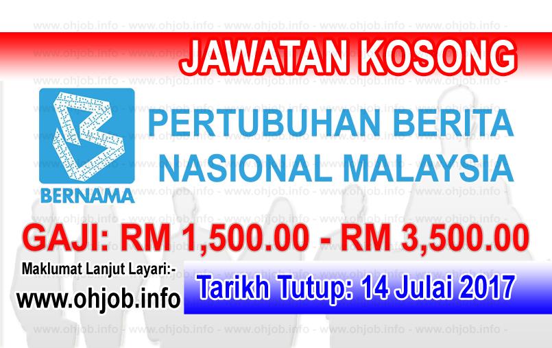 Jawatan Kerja Kosong Pertubuhan Berita Nasional Malaysia - BERNAMA logo www.ohjob.info julai 2017