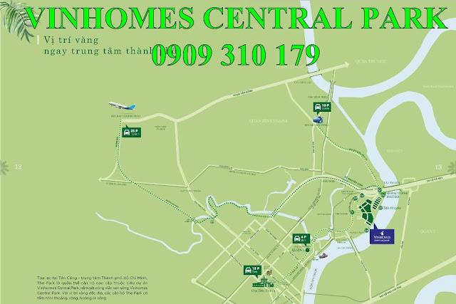 vị trí vinhomes central park