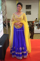 Actress Eesha in Yellow Choli Blue Ghagra at Darshakudu music launch 007.JPG