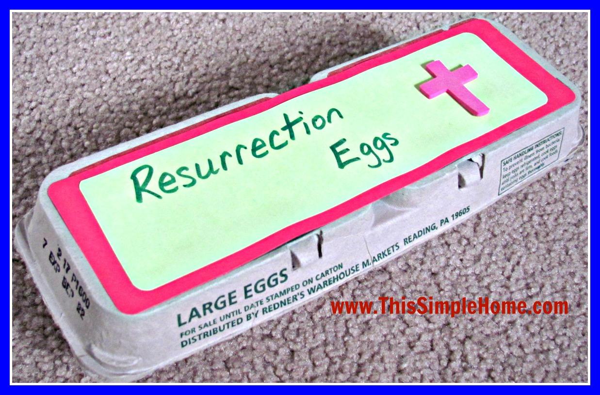 This Simple Home Homemade Resurrection Eggs Printable