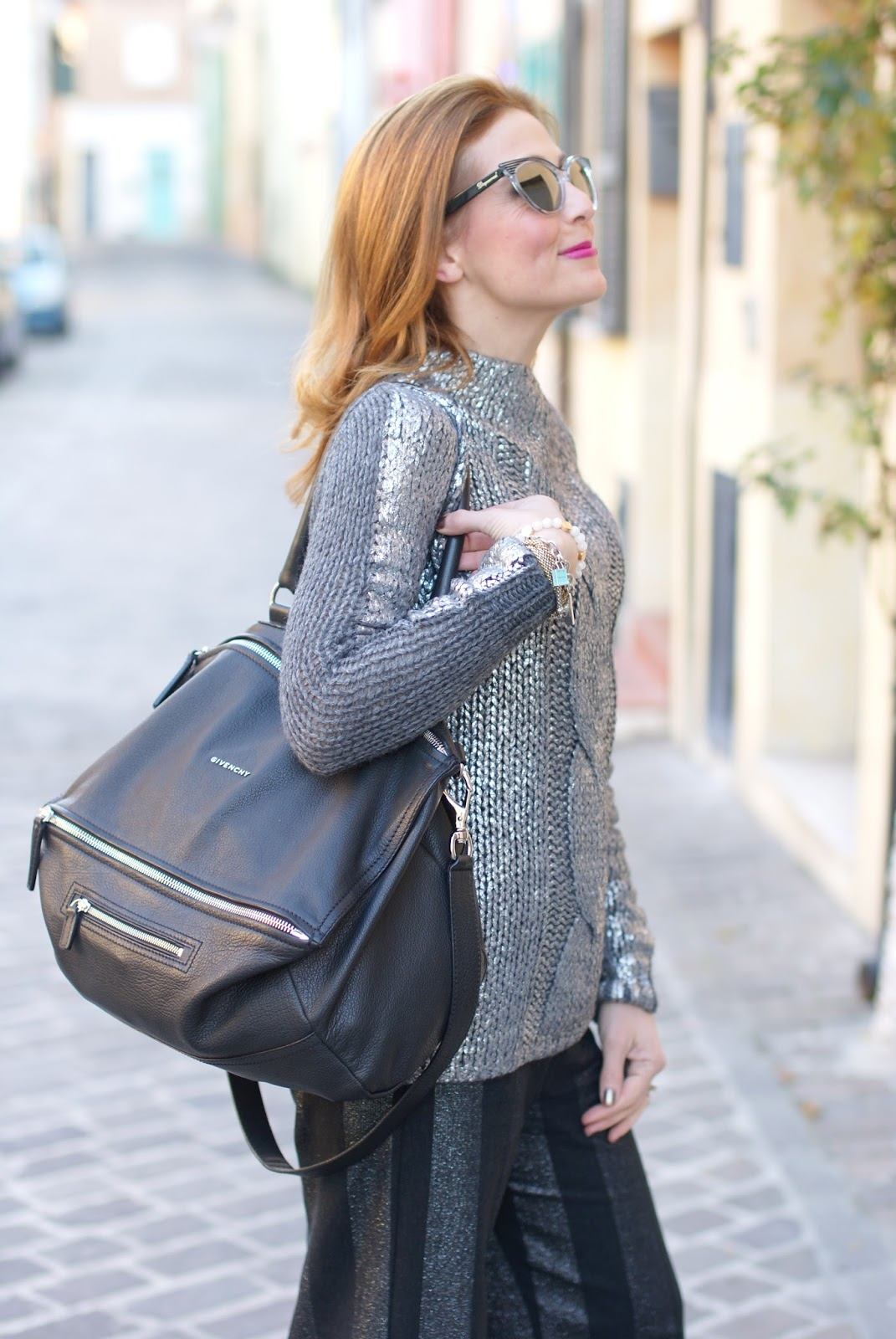 Black with silver on Fashion and Cookies fashion blog, fashion blogger style