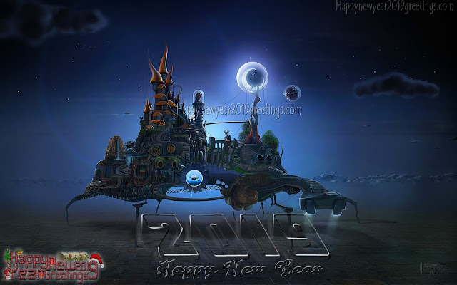 Happy New Year 2019 3D Images Download