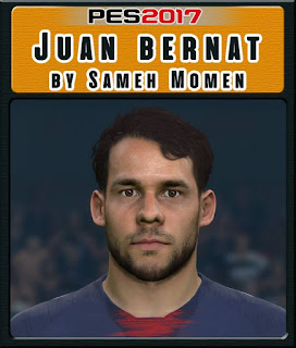 PES 2017 Faces Juan Bernat Velasco by Sameh Momen