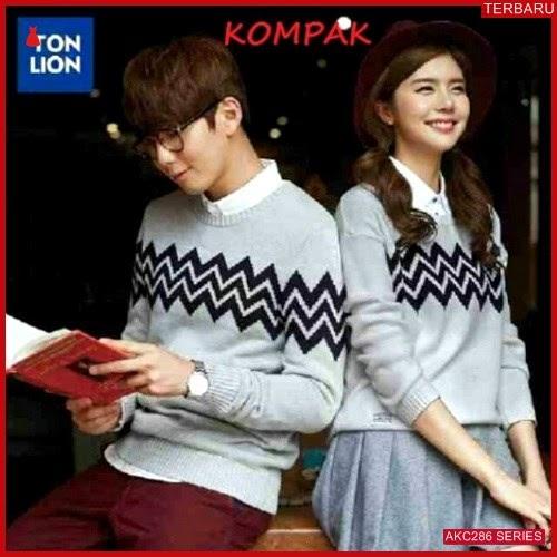 AKC286S43 Sweater Couple Zigzag Anak 286S43 Pasangan BMGShop