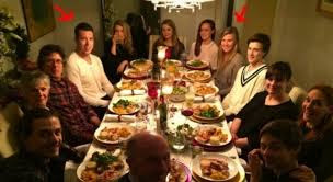 Eugenie Bouchard And Her Boyfriend Jordan Caron At Christmas Dinner
