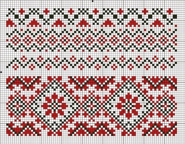 Вышиванки схема бесплатно для сорочки орнамент