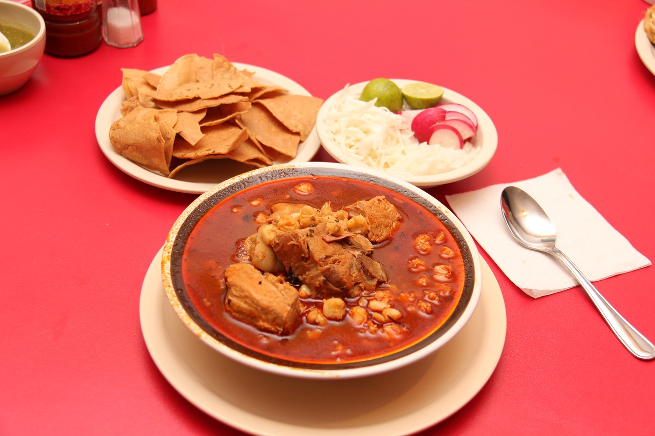 Red Posole( Red Hominy Soup) at The Busy Abuelita