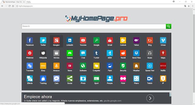 MyHomePage.pro (Hijacker)