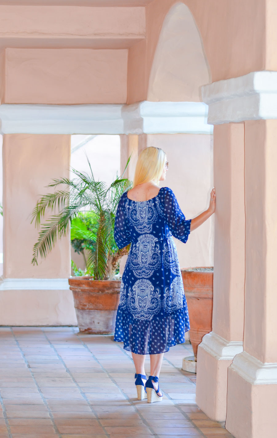 Blue Peasant a.n.a. Dress via JC Penney | Luci's Morsels :: LA Women's Fashion + Lifestyle Blogger