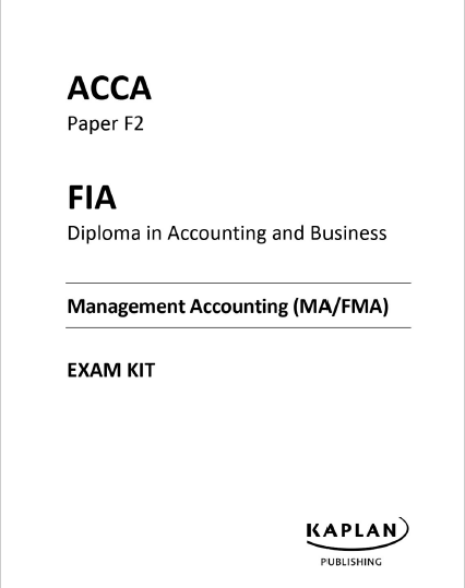 ACCA F2 Kaplan Exam Kit 2017 | FREE ACCOUNTING B00KS