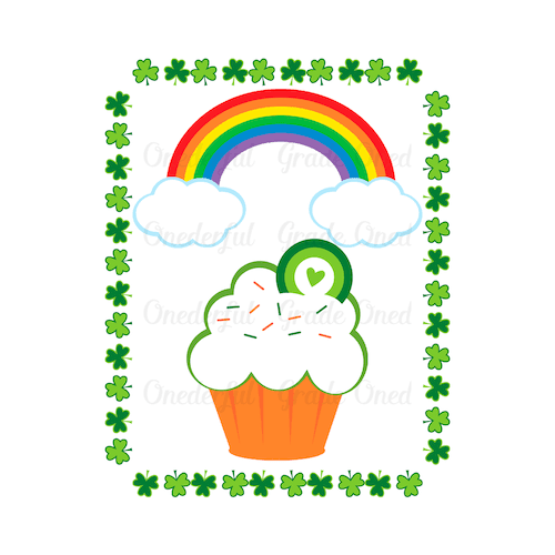 St. Patrick's Day Clipart. Rainbows, Pot of Gold, Beer, Shamrocks, Papers, Frame