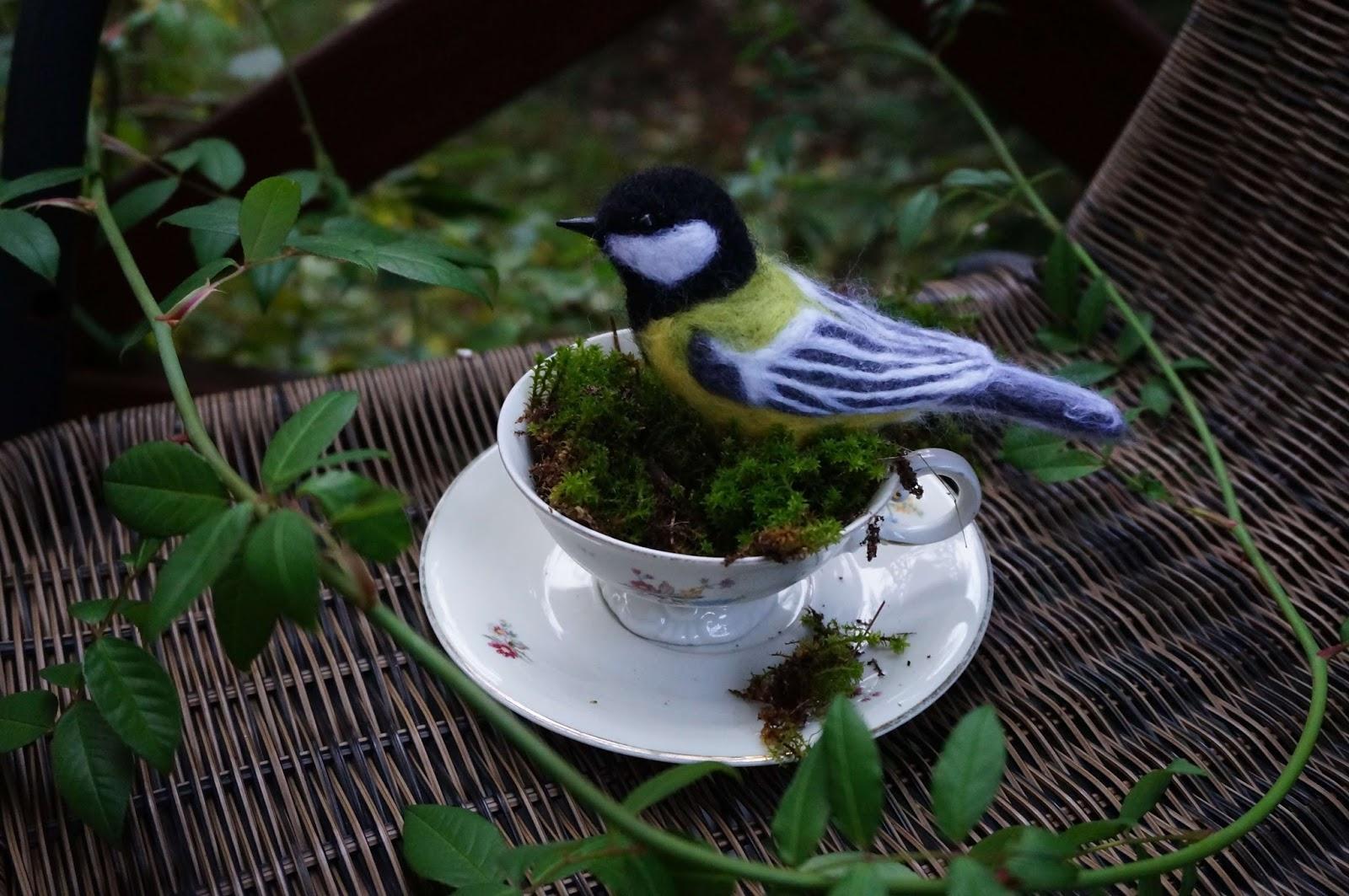 Filcowe ptaszki - sikorka i gil