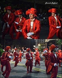 Desfile Inaugural del Carnaval. Uruguay. 2017 Parodistas Nazarenos