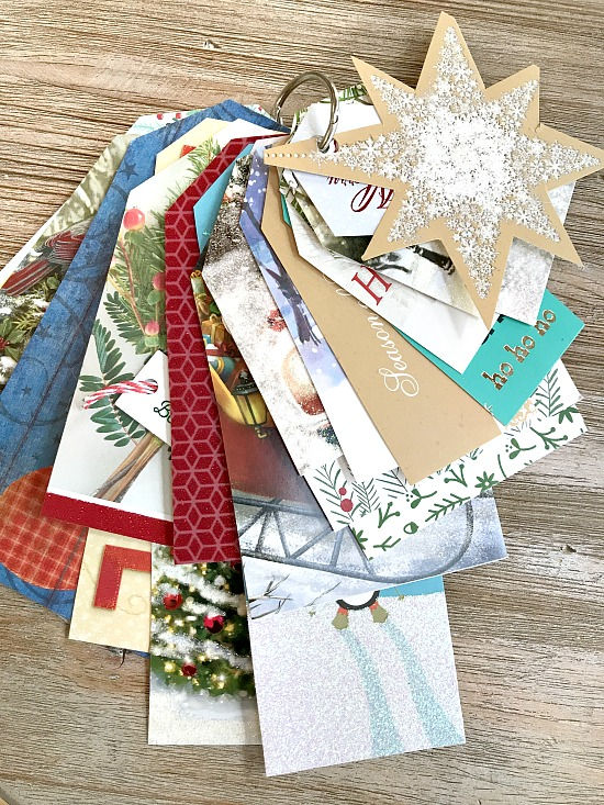 How to Recycle Old Christmas Cards to Use Next Christmas!