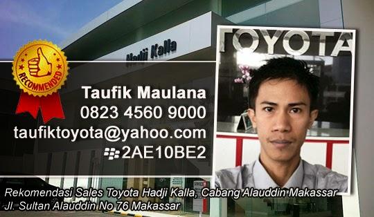 Rekomendasi sales Toyota Hadji Kalla,Cabang Alauddin Makassar