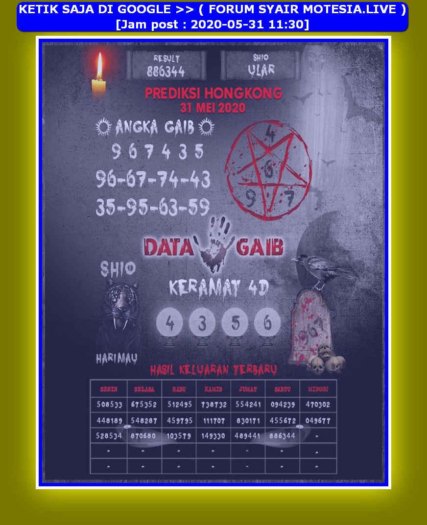 Kode syair Hongkong Minggu 31 Mei 2020 294